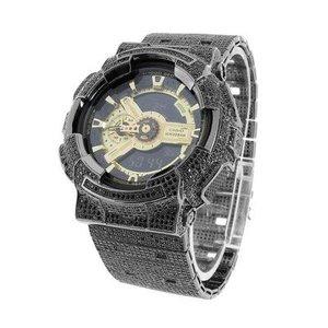 Casio G Shock GA110GB-1A Mens Watch Black Edition 14kt Gold Plated