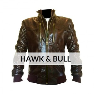 Brown Bomber Faux Leather Jacket Custom Made 3 Otf -Brown By Cavalry