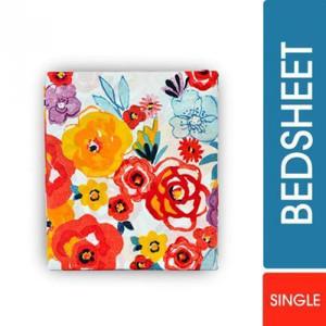 Bed Sheet Bold Posses Print Single Bed Sheet