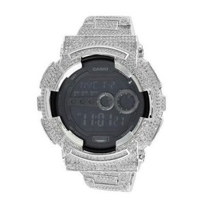 Casio G-Shock GD100 Mens Watch 14kt White Gold Plated