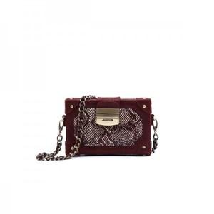 Glam Mini Box Burgundy Bag By Julke
