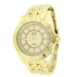 14K Yellow Gold Finish Designer Tachymeter Elegant Luxury Watch For Mens