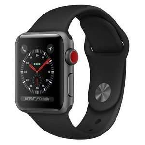 Apple Watch Series 3 MTGH2 38mm Space Gray Aluminum Case with Black Sport Band (GPS+Cellular)