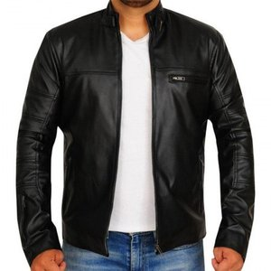 Black Mens Casual Style Leather Jacket 1005 By Di Pelle