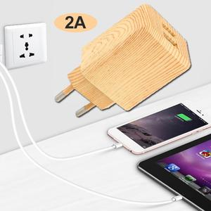 Amazing  Fast Charging Wall Charger Universal EU Plug Wooden Travel Digital Camera