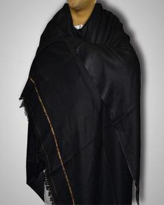 Black Color Kashmiri Dhussa Shawl Pashmina Wool