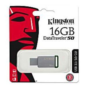 Kingston16GB USB 3.0 DT50, 30MB/s Read, 5MB/s Write Drive