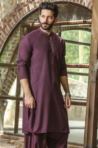 Bonanza Satrangi MAROON Color Kameez Shalwar For Man