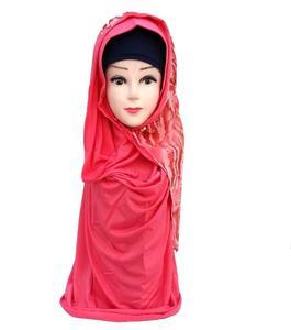 Light Pink Polyester Turkish Hijab Shawl for Women