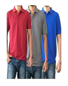 Pack Of 3 Multicolor Polo Shirts For Men