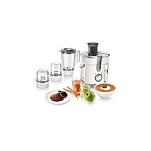 Philips Viva Collection Juicer, Blender, Grinder And Chopper - HR1847 - White