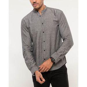 Denizen Grey Cotton Woven Shirt for Men
