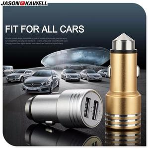 2 USB Port Output Metal Finish Smart Outlook Output 1: 1.0A Output 2: 2.1A Metal 2 USB Port Car Charger for Samsung / iPhone / Motorola / Infinix / Xiaomi / LG / Huawei / Lenovo - 2.1mA - Black This Adapter Plugs Into Your The Cigarette Lighter Jack