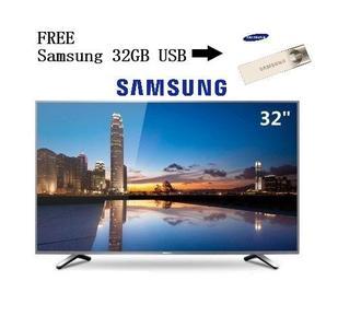 Samsung - Slim 32 Inches UHD LED Tv - Free 32GB USB - Black