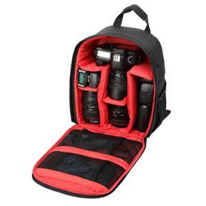 DL-B028 Portable Casual Style Waterproof Scratch-proof Outdoor Sports Backpack SLR Camera Bag Phone Bag for GoPro, SJCAM, Nikon, Canon, Xiaomi Xiaoyi YI, iPad, Apple, Samsung, Huawei, Size: 27.5 * 12.5 * 34 cm(Red)