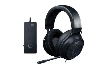 Razer Kraken Tournament Edition Gaming Headset - [Matte Black]: Aluminum Frame - Retractable Noise Cancelling Mic - THX 7.1 Surround Sound USB DAC - For PC, Xbox, PS4, Nintendo Switch