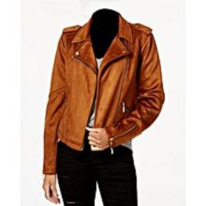 TASHCO Clothing Brown Suede Leather Jacket For Men
