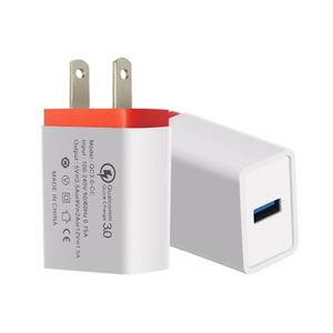 Portable Travel Home Universal Wall Charger QC3.0 Quick Charge Fast Charging US/EU Plug USB Charger Adapter for Smartphones Tablets