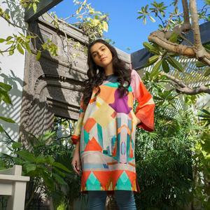 Alkaram studio MAK Summer 2020 Vol-1 Pink Lawn 2 Piece Suit For Women -A132224884
