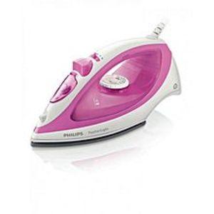 PhilipsFeatherLight Steam Iron - Pink & White (Brand Warranty)