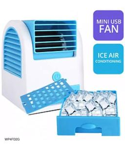 USB Mini Portable Air Conditioner Air Cooling Fan Air Cooler Fan for Office Home - Multicolor