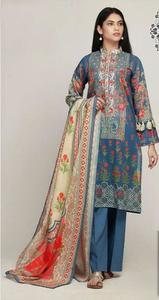 Khaadi Master Replica Un-Stitched Designer Lawn Dress for Women