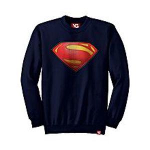 Why GenSuperman - Navy Blue Colour - fleece Sweatshirt