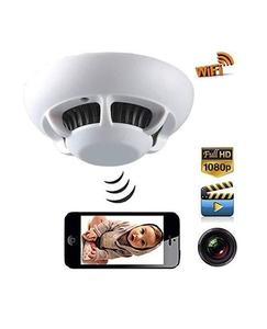 Wireless WiFi IP Camera In Smoke Detector Motion Detection Night Vision 1080P