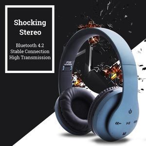 Wired/Wireless Bluetooth Headphones Foldable Headset Stereo Heavy Bass Earphone