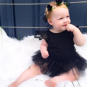 Newborn Kids Baby Girl Infant Romper Jumpsuit Bodysuit Tutu Dress Clothes Outfit