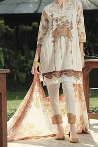 Almirah Summer Spring Collection Vol.01 2019 Natural Lawn 3pcs Stitched Suit For Women
