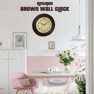 Wall Clock Home Décor Antique Brown Clocks