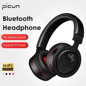 Picun HiFi Foldable 3D Stereo Surrounding Wireless bluetooth Headphone Noise Cancelling Headset