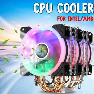 Flash DealCPU Cooler 4 Heatpipe 3x LED RGB Fans 90mm for LGA  775/1155/1156/1150/1366 AMD
