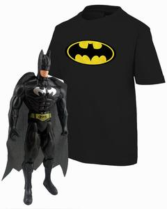 Black Batman  T-Shirt   with Batman Action Figure  Combo 2
