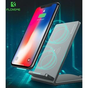 FLOVEME Qi FAST Quick Charge Wireless charger for Iphone Samsung Android phones