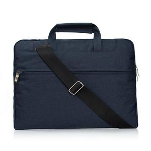Portable One Shoulder Handheld Zipper Laptop Bag, For 15.4 inch and Below Macbook, Samsung, Lenovo, Sony, DELL Alienware, CHUWI, ASUS, HP (Dark Blue)