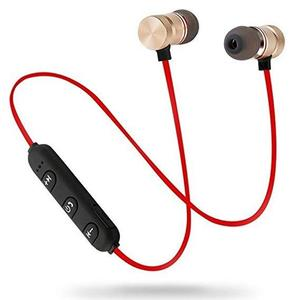 Magnetic Bluetooth Wireless Stereo In-Ear Sports Handfree - Gold
