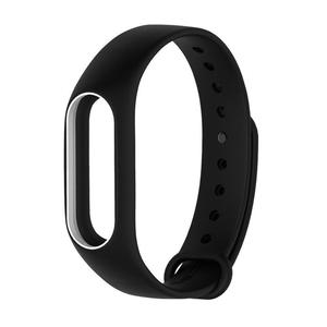 Silicone Soft Duotone Wrist Strap Wrist Bands Replacement For Mi Band 2
