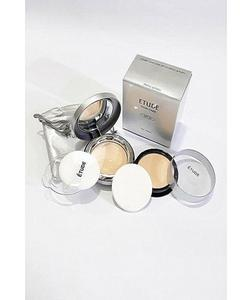 Twin Cake Face Powder Foundation Base With Refill Pack