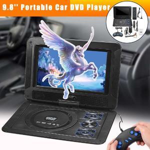 9.8'' Portable Car DVD Player Swivel Screen TV MP3 USB Remote Control 300 Games
