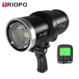 TRIOPO Oubao F1-400 400W 1/8000s High Speed Sync Outdoor Flash Strobe Light 2.4G Wireless Q System Dual TTL(i-TTL and e-TTL) 5600K for Canon Nikon Cameras with 2.4G Wireless Trigger and Rechargeable Li-ion Battery with Bowens Mount