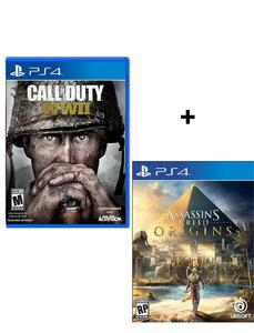 Bundle Offer - Call Of Duty - Ww Ii, Assassin'S Creed Origins - Playstation 4