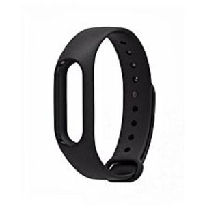Silicon Strap For Mi Band 2 - Black
