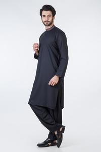 Bonanza Satrangi BLACK Color Kameez Shalwar For Man