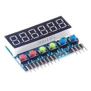 6-Digit 8 Segment Tube LED Display Module TM1637 for Arduino Raspberry Pi