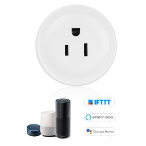Mini Smart WiFi Socket Remote Control by Smart Phone from Anywhere Timing Function, Voice Control for Amazon Alexa and for Google Home IFTTT