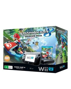 Nintendo  Wii U With Mariokart 8 - NTSC - Black