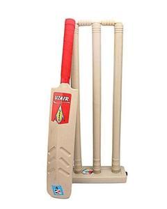 Cricket Bat & Wicket Set For Kids - Brown