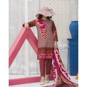 Pink & Penny Floral Printed Lawn Suit For Women – 3 Pcs